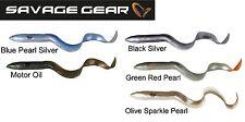 Savage Gear Set 5x 3D Real Eel Gummifische Aal 40cm, Hechtköder zum Spinnfischen