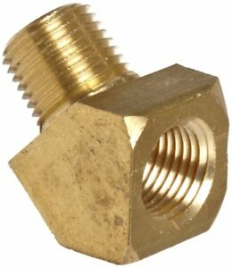 Anderson Brass Pipe Fitting 45 Degree Street Elbow 3/8 NPT Male X 3/8 NPT Female