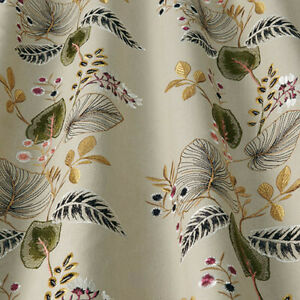 Serengeti Cranberry By iliv - Embroidered Leaf & Flower Fabric - 3 Metre Piece