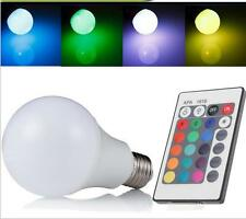 US STOCK New E27 16Color Changing RGB LED Light Bulb Lamp 85-265V Remote Control