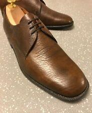 Men's Vintage Brown Leather K Shoes Gold Label Lace Up UK 9 9.5 EU 43 43.5 US 10