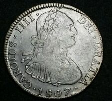 1807 P.J.☆ Bolivia ☆4 Reales ☆ Carolus IIII  ☆ Potosi ☆ Silver Colonial Coin