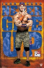 John Cena NEVER GIVE UP, U O ME Wrestling WWE Official Wall POSTER