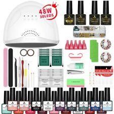 Nail Set UV LED Lamp Dryer With 18pcs Nail Gel Polish Kit Soak Off Manicure Tool