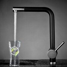 Schwarz Küchenarmatur Wasserhahn Spültischarmatur Einhebel Mischbatterie Brause