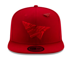 ROC NATION ✈️ SNAPBACK CROWN TRIPLE RED HAT PAPER PLANES PIN UNDERVISOR JAY-Z🔥