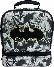 BATMAN Insulated Lunch Box - Mini School Bag - Black Fast Forward DC Comics NEW