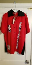 100% Authentic Mitchell & Ness 84/85 Chicago Bulls Shooting Shirt Size 44 Large