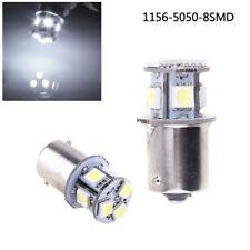 2pcs White BA15S R5W 1156 5050 8SMD LED Auto Car Brake Lights Bulbs 12V DC