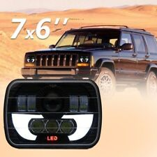 "Pair 5""x7inch 90W CREE LED Headlights Sealed Beam High/Low Beam DRL High Power"