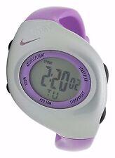 New Nike Kids Triax Junior WR0017 Vivid Purple Silver Digital Sports 38mm Watch
