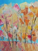 Abstract acrylic original painting on canvas size 12x16 inches