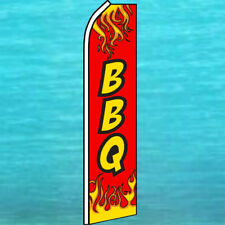 BBQ FLUTTER FLAG Barbecue Tall Curved Top Advertising Feather Swooper Banner