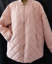 NEXT SZ 14 BLUSH OUTERWEAR SHOWER RESIST QUILTED ZIPPED COAT JACKET BNWT RRP £60