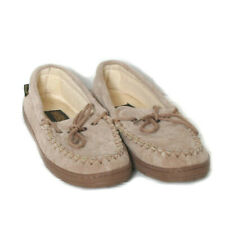 Old Friend Womens Tan Suede Slippers Size 10
