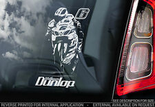 William Dunlop-Coche Etiqueta De La Ventana-Suzuki Motocicleta Moto Superbike signo