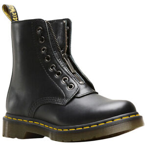 Dr.Martens 1460 Pascal Front Zip Nappa Leather Combat Ankle Womens Boots