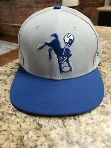 New Era 59Fifty Cap Mens NFL On Field Indianapolis Colts Gray Royal Blue Hat