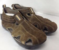 Clarks Rock Brown Sued Closed Toe Hiking Outdoor Sandals Men's 9 M 65957