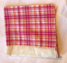 Pottery Barn teen Muffy pink plaid bed skirt • twin size