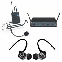 SAMSON Concert 88x 100-Channel Wireless Headset Microphone mic+Earbuds - D Band