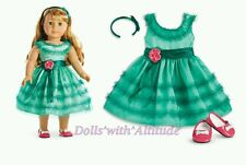 NEW IN BOX! American Girl Doll MARYELLEN'S Green Birthday Dress Outfit