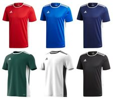 Adidas Entrada Boys Football Training T Shirt Sports Training Top