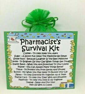Pharmacist's Survival Kit - Fun Novelty Gift & Card Alternative / Keepsake