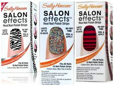 (Lot of 3) Sally Hansen Salon Effects Real Nail Polish Strips New! Assorted!!