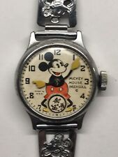 Vintage 1930s Ingersoll Mickey Mouse Wrist Watch Mechanical Disney 1935