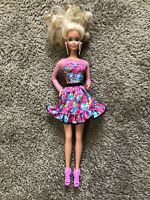 Vintage Barbie Doll 1966 Blonde Floral Cute Malaysia