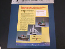 Vintage Billing Boats Junior Series Bur Mette Ymer Ad Sheet *Vg-Cond*