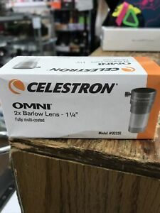 "Celestron Omni 2x Barlow Lens 1.25"" Multicoated Model 93326"