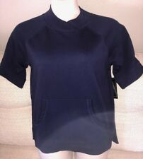 BOBBIE BROOKS Womans Size Medium 10-12 Dark Blue Short Sleeve Top Shirt NEW