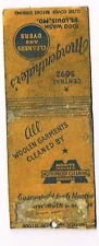 1930s Morgenthaler's Cleaners & Dyers St Louis Missouri Matchcover