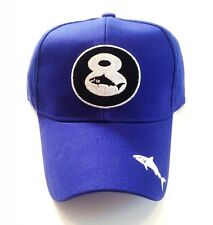 00000Cf6 Blue 8 Ball Shark Hat / Cap Pool Billiards H10 w/ Free Shipping