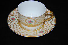 A. Raynaud & Co. Chambord Tea cup and Saucer with Gold Incrustation