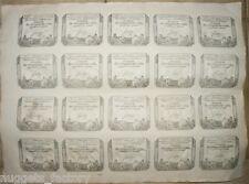 planche de 20 Assignats  de 50 sol UNC - An 2