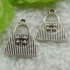Free Ship 120 pcs tibet silver handbag charms 21x15mm #1470