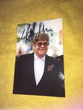 Photo Rare Et Collector Dedicace Autograph Elton John