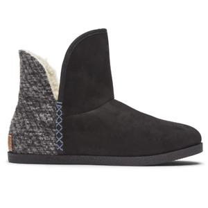 Rockport truTech Veda Slipper Boot Black/Grey Size US 7