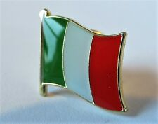 ITALY - Flag Lapel Pin Badge Superior High Quality Gloss Enamel - il Tricolore