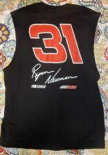 Ryan Newman 2018 CAT sleeveless Black T-Shirt NASCAR   Racing #31 Caterpillar