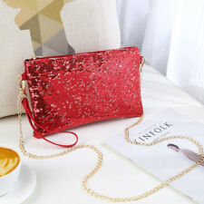 Ladies Designer Sequins Purse Chain Handbag Shoulder Bag Evening Bag Clutch