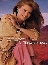 1987 COVER GIRL & CHRISTIE BRINKLEY   : Make up  Magazine  PRINT  AD 2-pg