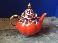 Rudolf Wachter Red, Lavender & Gold Teapot RW Germany
