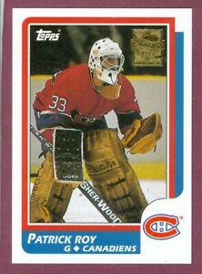 PATRICK ROY MONTREAL CANADIENS COLORADO AVALANCHE NHL HOCKEY CARD SEE LIST