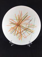 "Murano Venezia Plate Platter Glass Modern String Striped Large Serving  15"""