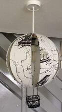 Hot Air Balloon Ceiling Light Octopus Map Ships With Hanging cage 16''