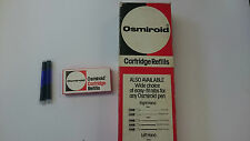 Osmiroid ORIGINAL Ink Cartridges pack of 5 BLUE for all Osmiroid Fountain Pens